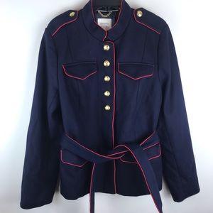 BR Olivia Palermo Navy Military Jacket XL